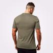 MGactivewear Model wear Men Sports T shirt Green Wash Bronx Back Profile