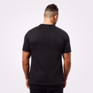 MGactivewear Ecommerce Model wearing Men Sports Casual T shirt wash black Brox Back Profile
