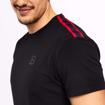 MGactivewear Athlete wear Black Varick Men Sports T shirt Shoulder Accents Profile