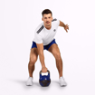 MGactivewear Athlete wear White Varick Men Sports T Shirt Workout Profile