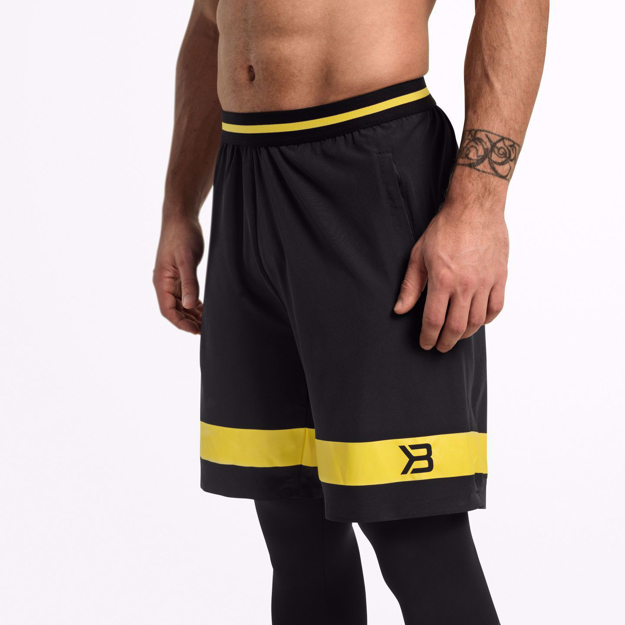 MGactivewear Ecommerce Black Fulton Sport Shorts Close Up picture