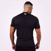 MGactivewear Ecommerce Product Shot of Black Tribeca Men Sports T Shirts Back Profile
