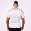 MGactivewear Ecommerce Product Shot of White Tribeca Men Sports Tee Back Profile