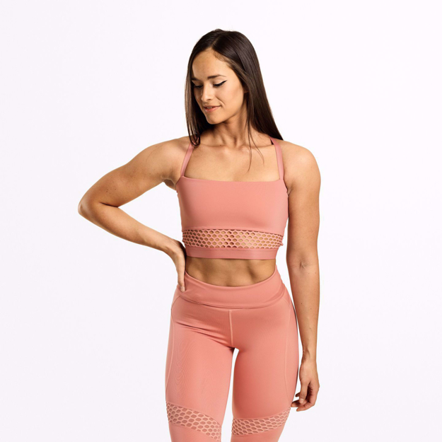 1 Waverly Mesh Workout Bra | Rose Dawn