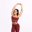 1 Waverly Mesh Workout Bra | Sangria Red