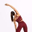 2 Waverly Mesh Workout Bra | Sangria Red
