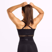 3 Waverly Mesh Workout Bra | Black