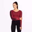 2 Bowery Cropped LS | Sangria Red