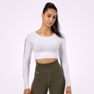 1 Bowery Cropped LS | White