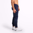 Men Fitness Wear by Better Bodies at MGactivewear Varick Track Pants Navy Blue Side