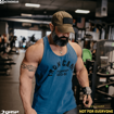 IFBB Pro Bodybuilder Guy Cisternino working out in Throwback Men Tank Top .