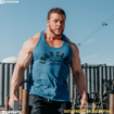 Strong Man workout in Ocean Blue Throwback Men Gym Tank Top