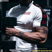 MGactivewear Model shot of White Tribeca Power Men Sports Tee