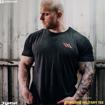 MGactivewear Bodybuilder Athlete Model Shot in Black Standard Military Men Sports T Shirt