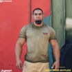 MGactivewear Athlete Tony Sentement wearing Olive green Standard Military Men Sports T Shirt