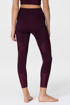 MOTO MIDI LEGGING - AUBERGINE/FIG RIB Back