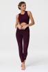 MOTO MIDI LEGGING - AUBERGINE/FIG Model