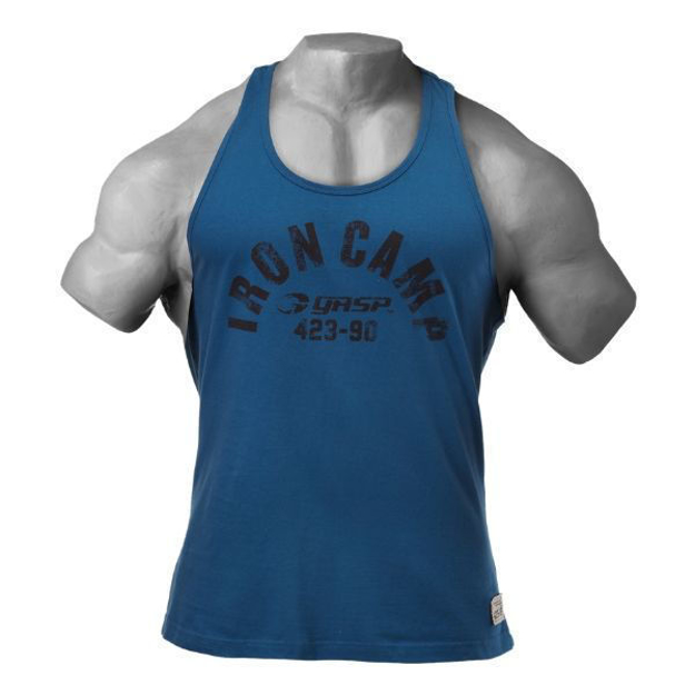 1 Throwback Bodybuilding Tank | Ocean Blue