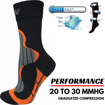 Men Compression Socks For Cycling Crew Length