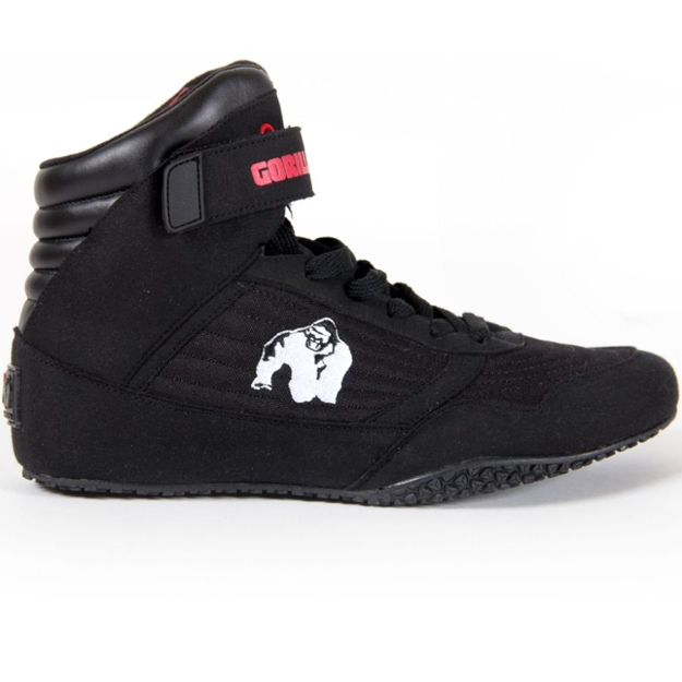 Gorilla Wear High Top Bodybuilding Shoes in Black