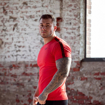 Picture of Gorilla Wear Chester Sport T-Shirt | Red Black