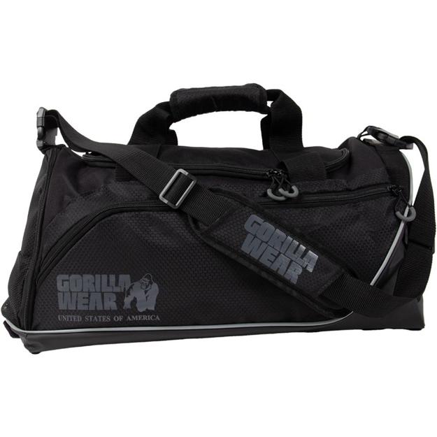 Shop gym bag with shoe pocket