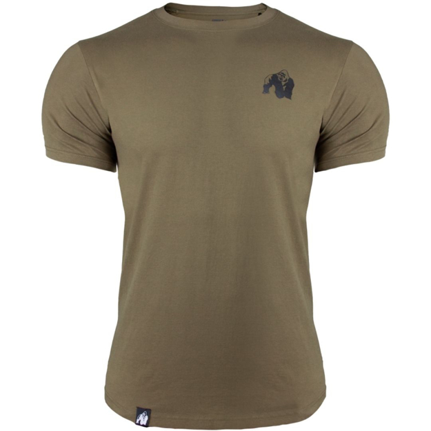Men's Cotton Sports T-shirt in Army Green