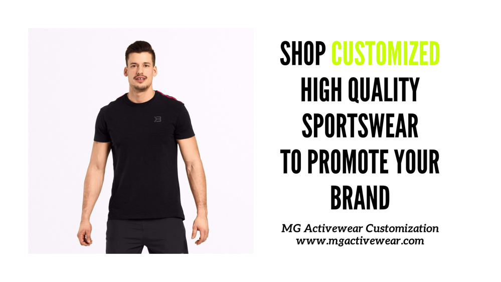 Shop High Quality Customised Sportswear with your co branding in UAE with world wide shipping.