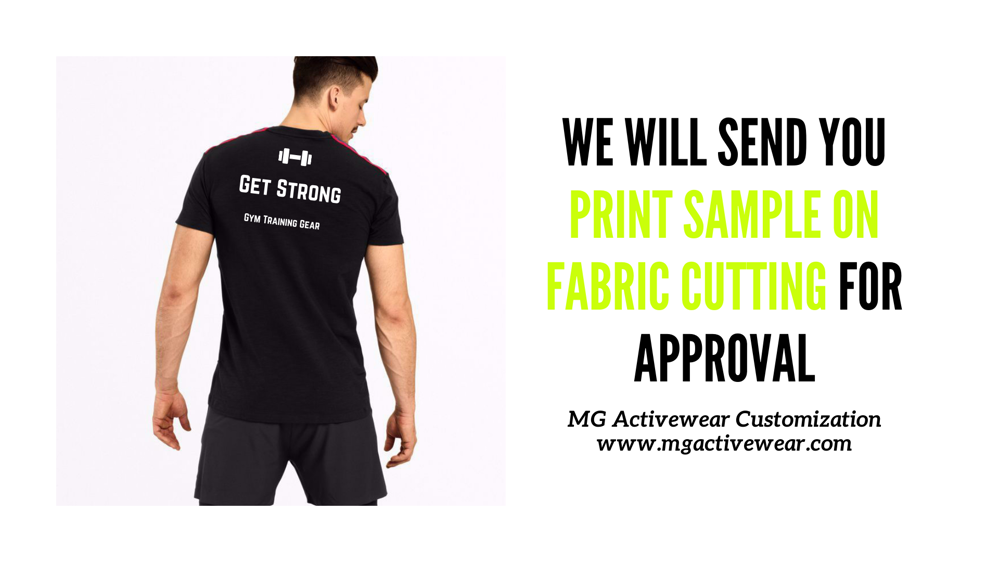 Approve your print physically on fabric cutting
