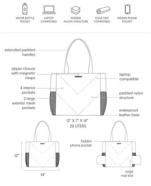 Aria Tote Tech Pack